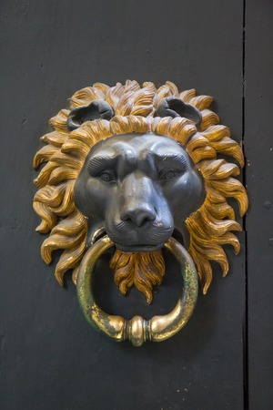 Lion door knocker - Rome, Italy Stock Photo