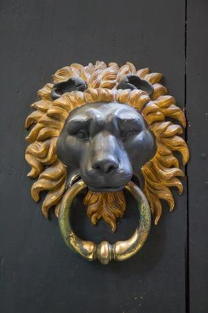 Lion Door Knocker   Rome, Italy Stock Photo   97426420