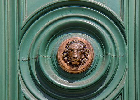 Lion door knocker - Rome, Italy Stock Photo