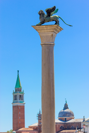 Winged Lion statue, symbol of Venice.