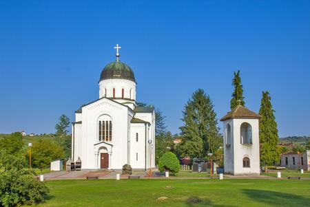 Bela crkva - White church near Krupanj in Serbia 版權商用圖片