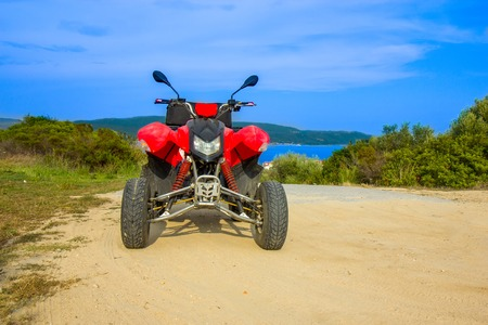 Quad bike ATV on the island