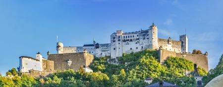 Beautiful view of Salzburg Hohensalzburg fortress, Salzburg, Salzburger Land, Austria