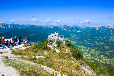 The Kehlsteinhaus (Eagles Nest), Kehlstein, Obersalzberg, Berchtesgaden, which used to be a retreat for German dictator Adolf Hitler during the Third Reich period Редакционное