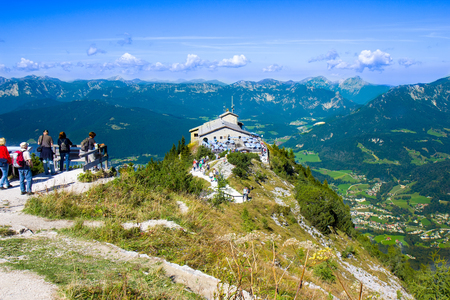 The Kehlsteinhaus (Eagle's Nest), Kehlstein, Obersalzberg, Berchtesgaden, which used to be a retreat for German dictator Adolf Hitler during the Third Reich period Editorial