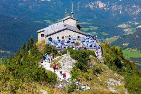 The Kehlsteinhaus (Eagles Nest), Kehlstein, Obersalzberg, Berchtesgaden, which used to be a retreat for German dictator Adolf Hitler during the Third Reich period Editorial