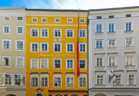 Birthplace of Wolfgang Amadeus Mozart in Salzburg, Austria