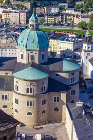 Panoramic view of the city of Salzburg, Austria - Salzburger Dom