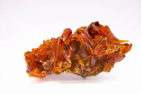 Zincite mineral smelting product from Oclusz, Poland Stock Photo
