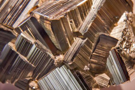 Pyrite mineral closeup