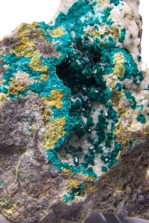 Raw dioptase mineral