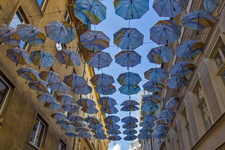 Street view of downtown in Bratislava, Slovakia