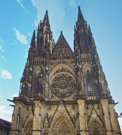 The Metropolitan Cathedral of Saints Vitus in Prague