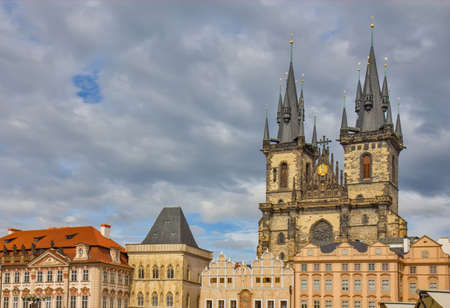 Church of Our Lady before Týn in Old Town Square in Prague Czech Republic