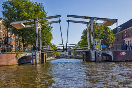 Bridge on the river in Amsterdam
