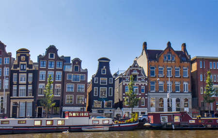 Building in Amsterdam by the river