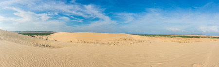 ne: Panorama view. White sand dunes at, Mui Ne, Vietnam