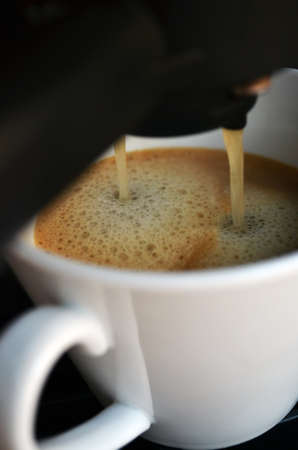 macr: Making a coffee Stock Photo