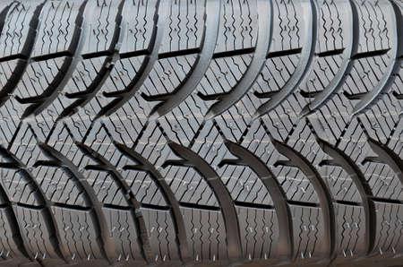 unused: Close up of unused winter car tire.