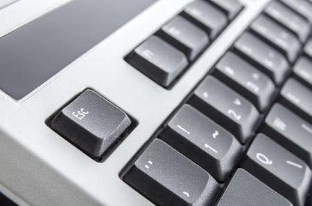 escape key: Keyboard closeup with escape key