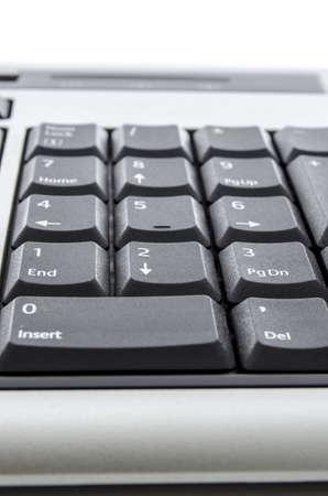 teclado numérico: Primer del teclado numérico con números