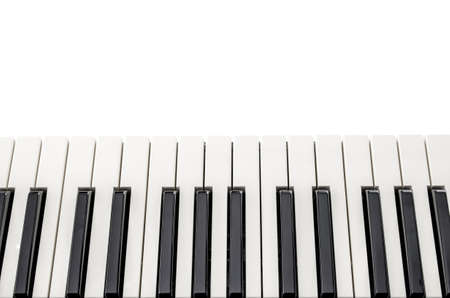 Top view of electronic piano keyboard keys with copyspace  photo