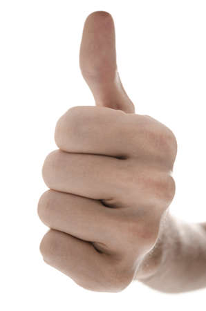 Front view of a hand with ok sign  Isolated on a white background Stock Photo - 17508245