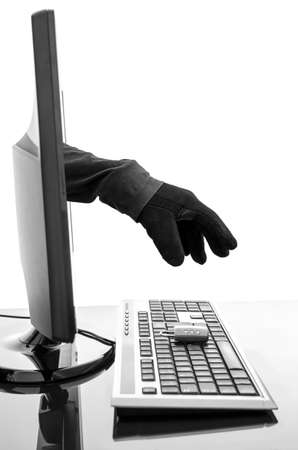 internet attack: Hacker Stock Photo