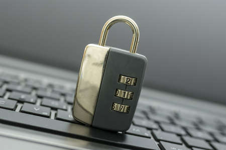 Padlock on computer keyboard. Concept of internet security. Stock Photo - 20213989