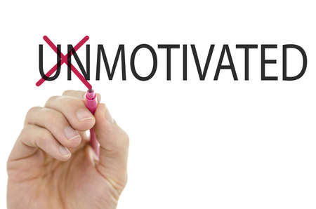 unmotivated: Changing word Unmotivated into motivated by crossing off the letters UN.