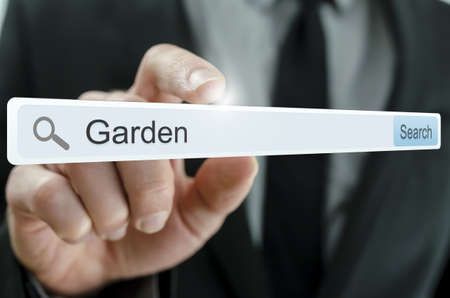 Word Garden written in search bar on virtual screen. Stock Photo - 20309363