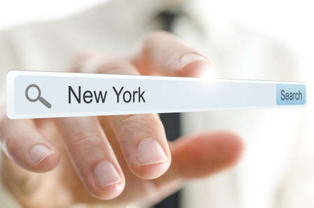 New York written in search bar on virtual screen. Stock Photo - 20309446