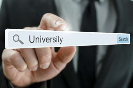 Word University written in search bar on virtual screen. Stock Photo - 20343260