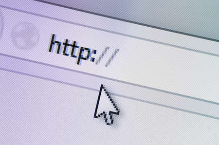 Closeup of search bar with http written in it. Stock Photo - 20343206