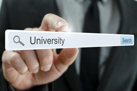 Word University written in search bar on virtual screen. Stock Photo - 20343265