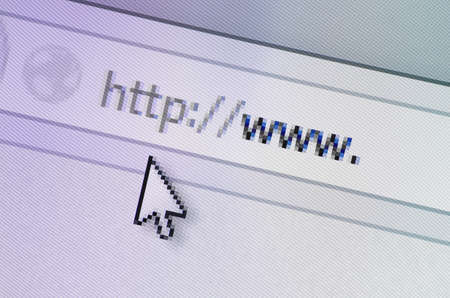 http  www: Closeup of browser bar with http www written in it. Stock Photo