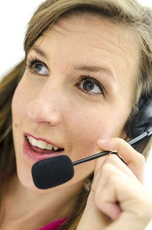 dispatcher: Portrait of young female dispatcher.