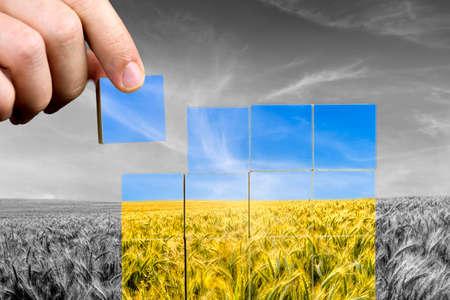 consciência: Conceito de cuidado ambiental e conscientiza