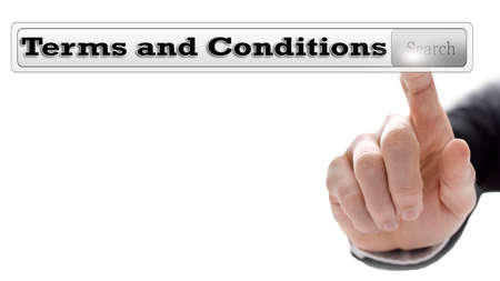 condition: Terms and conditions written in search bar on virtual screen