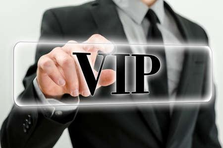 personal service: VIP button on virtual screen.