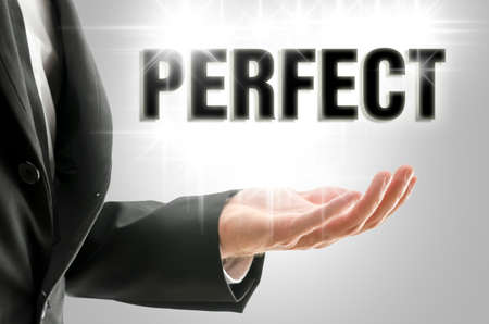 perfection: Business perfection concept.