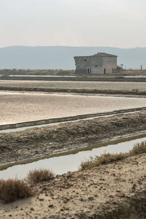 Abandoned old salt pan house at Secovlje Saltpans Natural Park in Slovenia.