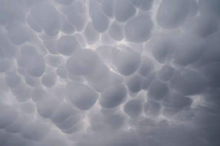 Mammatus cloudscape before a storm 스톡 콘텐츠