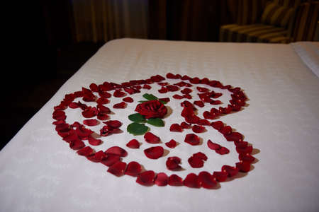 honeymoon suite: honeymoon suite with private bath decorated with roses petals