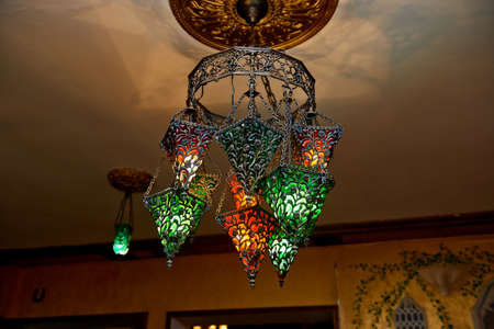 moroccan metal lanterns moroccan lamps made of stained glass a few lights warm