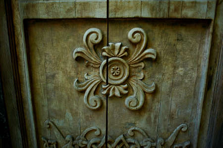 the art of woodworking. Beautiful patterns carved into the wood Stock Photo