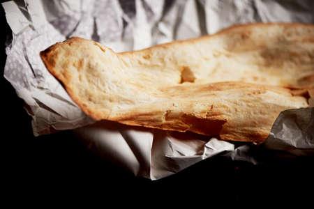 puri: Georgian bread baked in clay oven . Shotis Puri.Fresh with a crispy crust