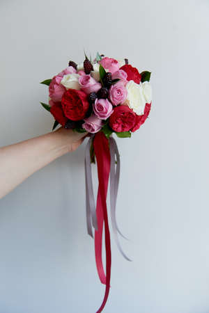 Wedding bridal bouquet in red pink white wedding flowers stock stock photo wedding bridal bouquet in red pink white wedding flowers wedding items and accessories mightylinksfo