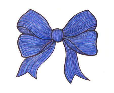 loop: Gráfico del arco. Dibujo lápices de colores. Azul