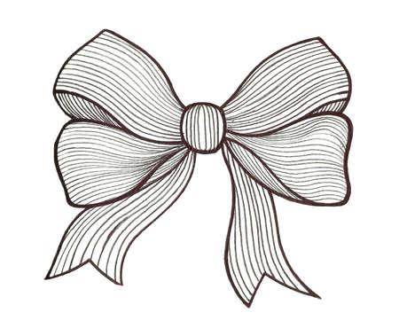 lazo regalo: Gráfico del arco. En blanco y negro Foto de archivo